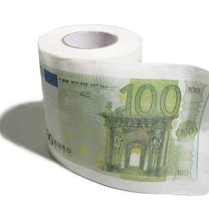 100 euron WC-paperi
