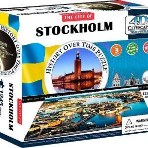 4D Cityscape Puzzle Stockholm