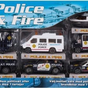 Action Force Speed Set 7-pack Poliisi
