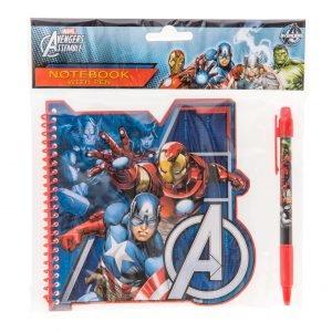 Avengers 15 X 15 Cm Kierre Muistivihko Ja Kynä