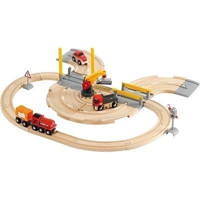BRIO Puuratatie Rail & Road nosturi-ratasetti
