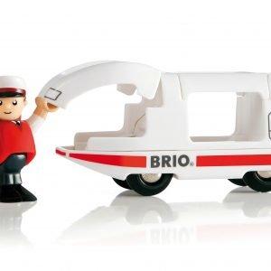 Brio Valkoinen Veturi Ja Kuljettaja
