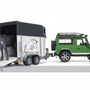Bruder Maastoauto Ja Hevoskuljetuvaunu Land Rover