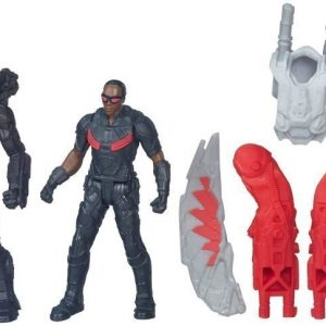 Captain America Team VS Team Figure Marvels Falcon VS Marvels War Machine 6 cm