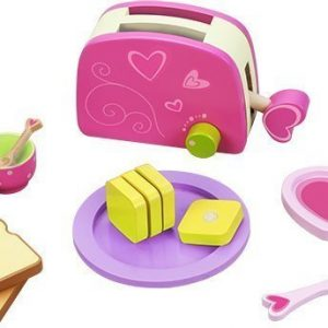 Classic World Leikkiruokaa Puinen leivänpaahdin tarvikkeineen
