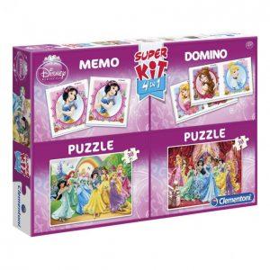 Clementoni 2x30 + Memo + Domino Princess