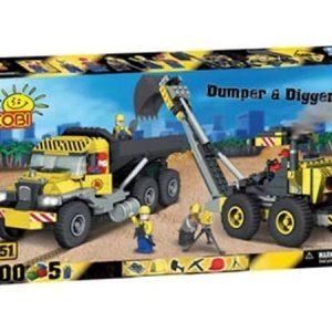 Cobi Dumber & Digger kaivinkonerakennussarja 500 osaa