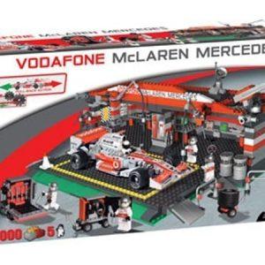 Cobi McLaren F1-auto ja iso varikko rakennuspalikkasarja 1000 osaa