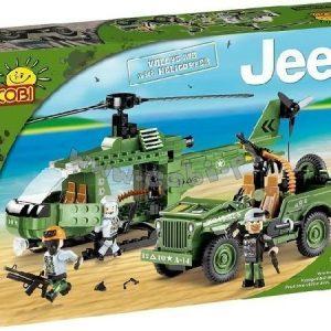 Cobi Small Army Jeep Willys ja Helikopteri 250 palaa