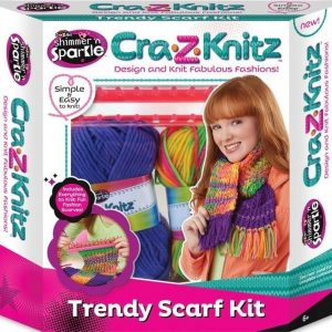 Cra-Z-Knitz Trendy Scarf Knitting Kit