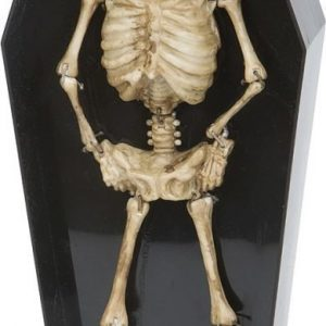 Dancing skeleton in coffin