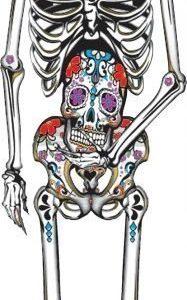 Day of the Dead Skelett Deko.