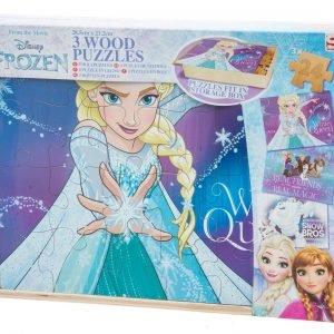 Disney Frozen Puinen Palapeli 3 Kpl/Pkt