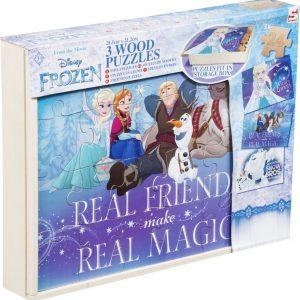 Disney Frozen Wood Puzzle 3 kpl