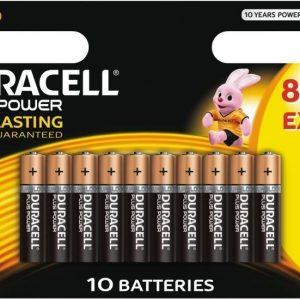 Duracell Plus Power AAA 8+2 kpl