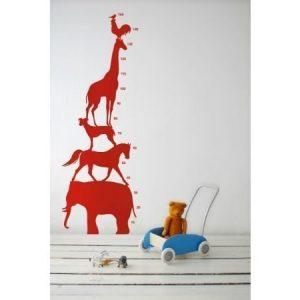 Ferm Living Animal Tower seinätarra punainen