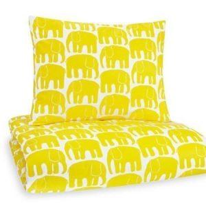 Finlayson Elefantti lasten pussilakanasetti 120 x 160 cm keltainen
