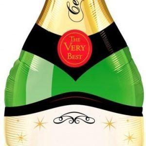 Folieballong Champagneflaska