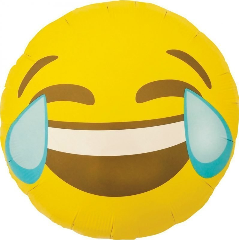 Folieballong Skrattande Smiley 46cm