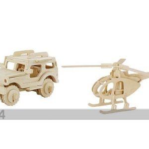 Gerardo`S Toys 3d Palapeli Jeep Ja Helikopteri