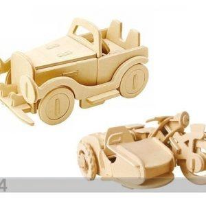 Gerardo`S Toys 3d Palapeli MoottoripyÖrÄ Ja Auto