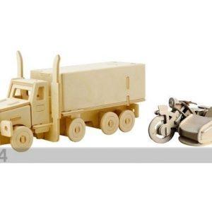 Gerardo`S Toys 3d Palapeli MoottoripyÖrÄ Ja Sivuvaunu