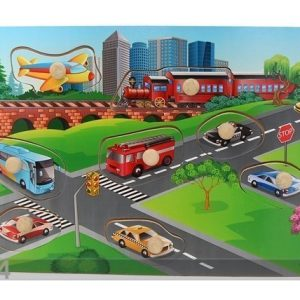 Gerardo`S Toys Puinen Palapeli Autot
