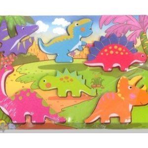 Gerardo`S Toys Puinen Palapeli Dinosaurukset