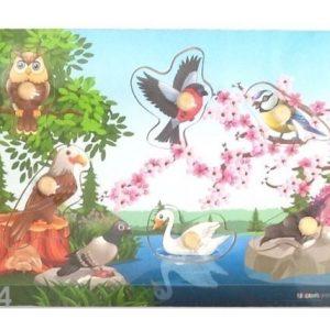 Gerardo`S Toys Puinen Palapeli Linnut