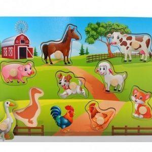 Gerardo`S Toys Puinen Palapeli Maatila