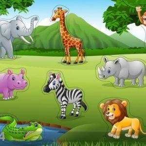 Gerardo`S Toys Puinen Palapeli Safari
