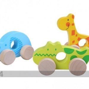 Gerardo`S Toys Puiset Eläimet Pyörillä 3kpl