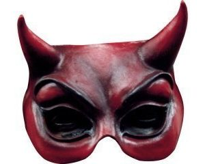 Ghoulish - devil halfmask red