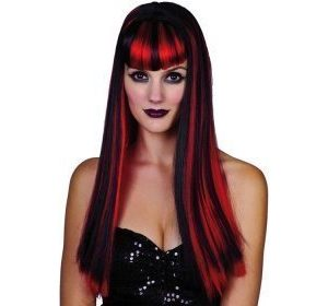 Gothic Musta/Punainen peruukki