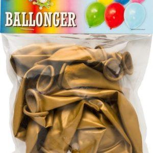 Guldmetallic Ballonger 8-pack