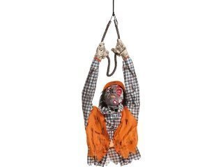 Hanging construction worker