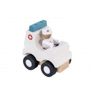 Hape Woody Click Ambulanssi