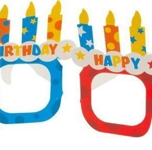 Happy Birthday -pahvilasit 4-pack