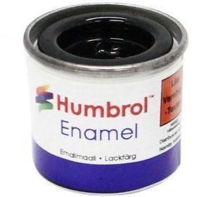 Humbrol 021 Black kiiltävä
