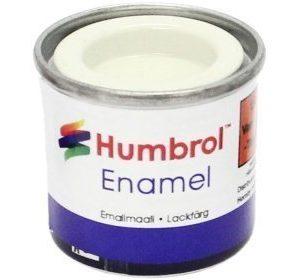 Humbrol 022 White kiiltävä
