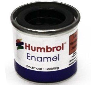 Humbrol 085 Coal Black puolikiiltävä
