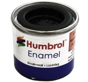 Humbrol 201 Metallic Black metallihohto