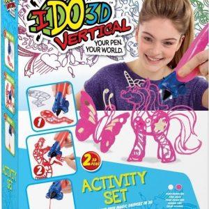 IDO3D Vertical 3D-piirrokset Vaaleanpunainen & Valkoinen
