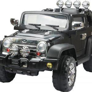 Jeeppi Sähköauto Musta kauko-ohjaimella