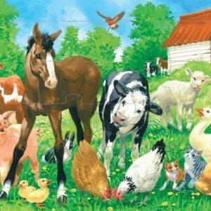 Kärnan Puinen kehyspalapeli Maatilan eläimet 16 palaa
