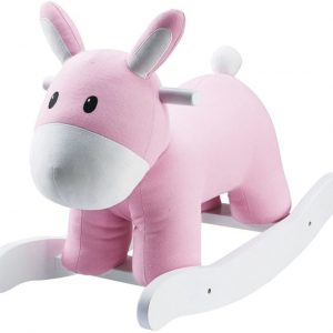 Kids Concept Keinuhevonen Vaaleanpunainen/valkoinen