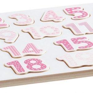Kids Concept Numeropalapeli Vaaleanpunainen