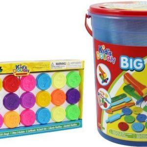 Kids Dough Leikkihiekka Big Bucket + Big Pack Paketti
