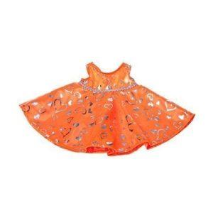 Kimalteleva oranssi mekko 40 cm