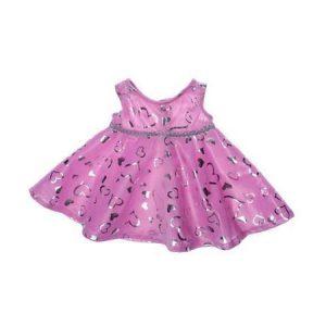 Kimalteleva pinkki mekko 40 cm